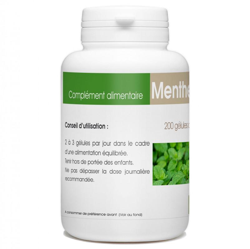 200 gélules de Menthe Poivrée feuille 250 mg