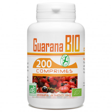 Comprimés de Guarana Bio 400 mg