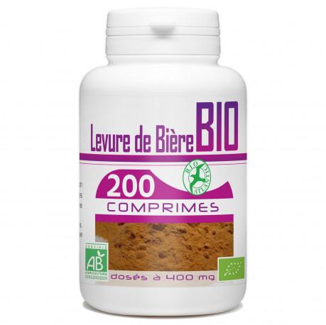 200 Comprimes Levure de Bière Bio 400 mg