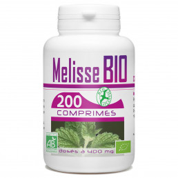 Mélisse Bio 400 mg - 200 Comprimés.