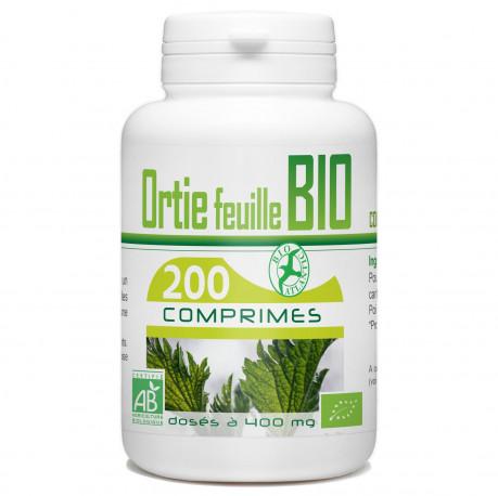 200 Comprimes Ortie feuille Bio 400 mg
