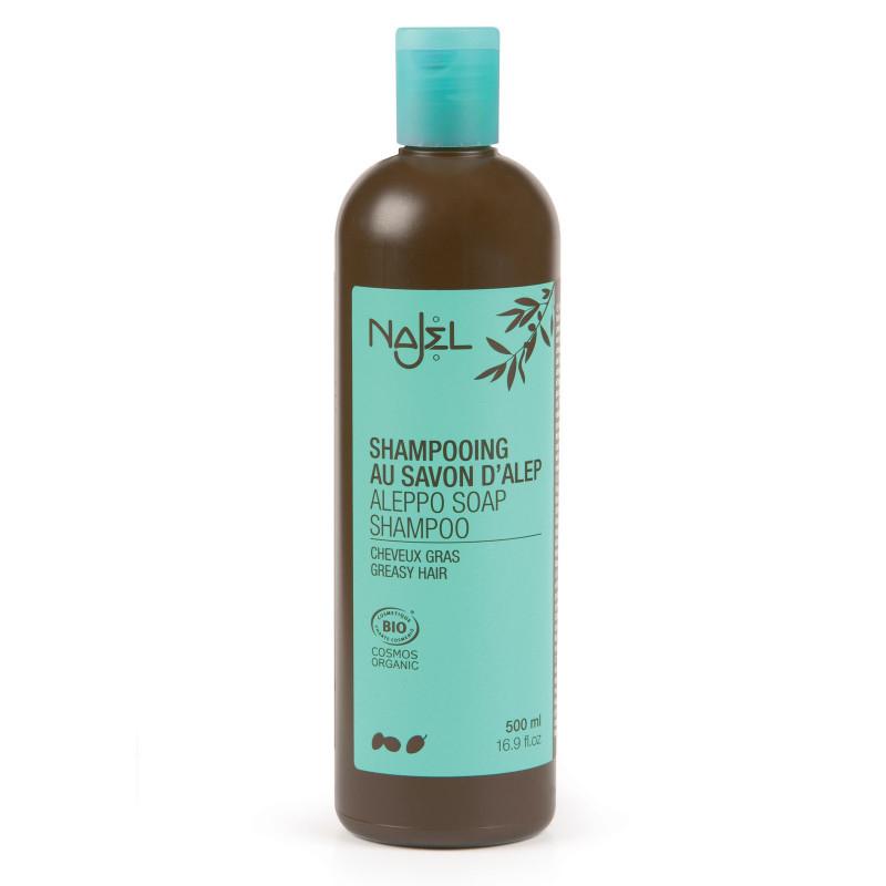 shampoing au savon d 39 alep bio 500ml cheveux gras. Black Bedroom Furniture Sets. Home Design Ideas
