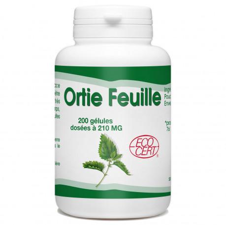 200 Gélules D'Ortie Bio Dosées À 210 Mg