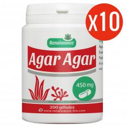 Agar Agar - 450mg - 10 X 200 gélules