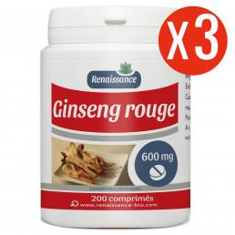 200 comprimés à 600 mg x 3 de Ginseng Rouge