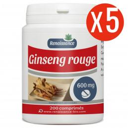 Ginseng Rouge 200 comprimés à 600 mg x 5