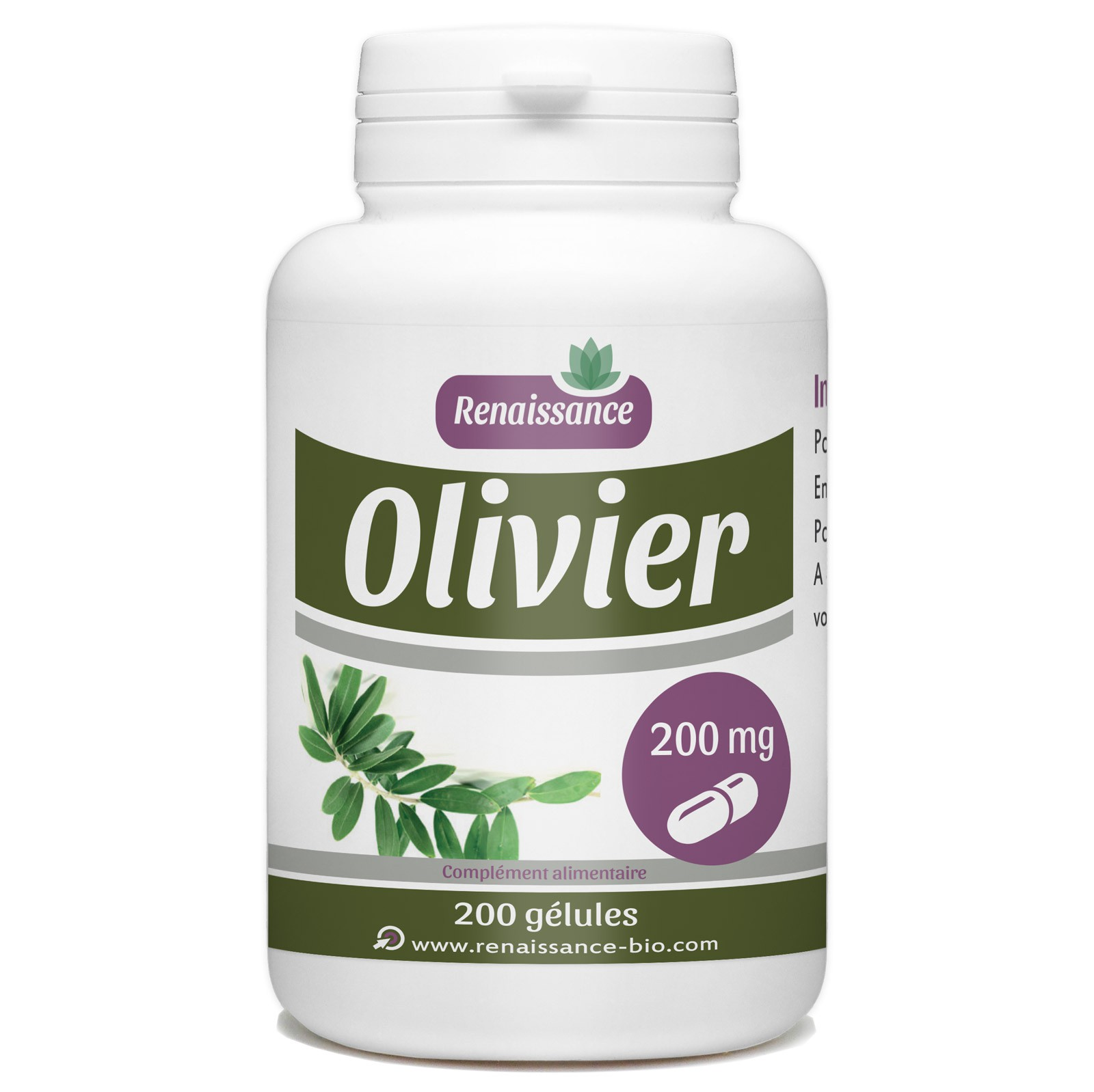 Il Cultive L Olivier olivier feuille - 200 gelules classiques