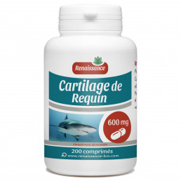 Cartilage de requin dosés à 600 mg par comprime