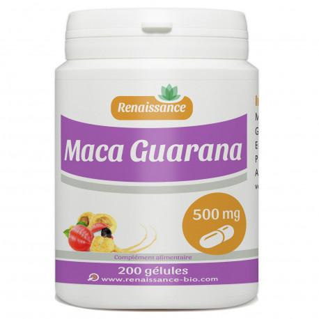 Maca-Guarana - 200 gelules dosées 500 mg