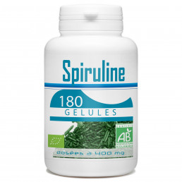 Spiruline Bio - 400 mg - 180 gélules végétales