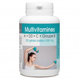 Multivitamines A + D3 + C + Groupe B - 200 gélules