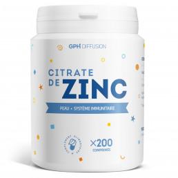 Citrate de zinc - 200 comprimés