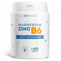 Magnésium + Zinc + B6 - 200 Comprimés
