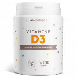 Vitamine D3 - 5 µg - 200 Comprimés