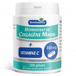 Hydrolysat de collagene marin + vitamine c - 200 gelules classiques