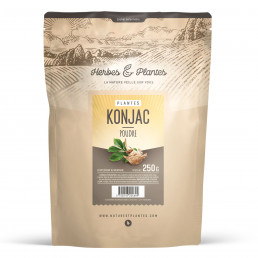 Konjac 250 grammes de poudre - à 80 % glucomannane