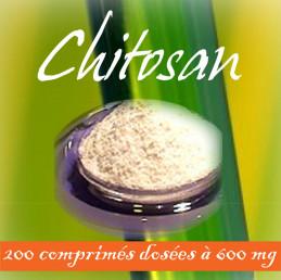 Chitosan dosés à 600 mg par comprime