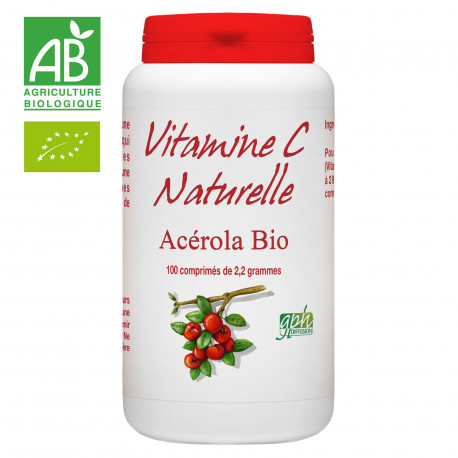 Vitamine C Acérola Bio 1000 - 100 comprimés