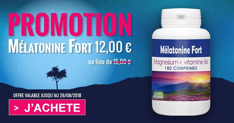 Mélatonine Fort en promotion jusqu'au 26 août 2018