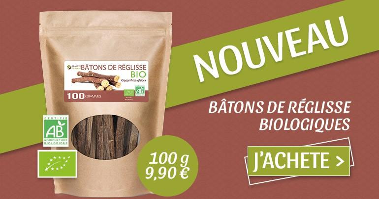 BÂTONS DE RÉGLISSE BIOLOGIQUES